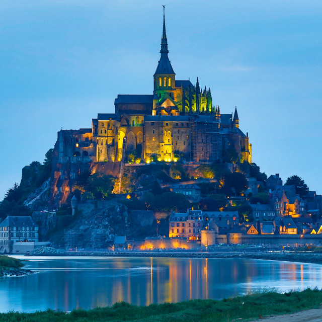 """Le Mont Saint Michel"" stock image"