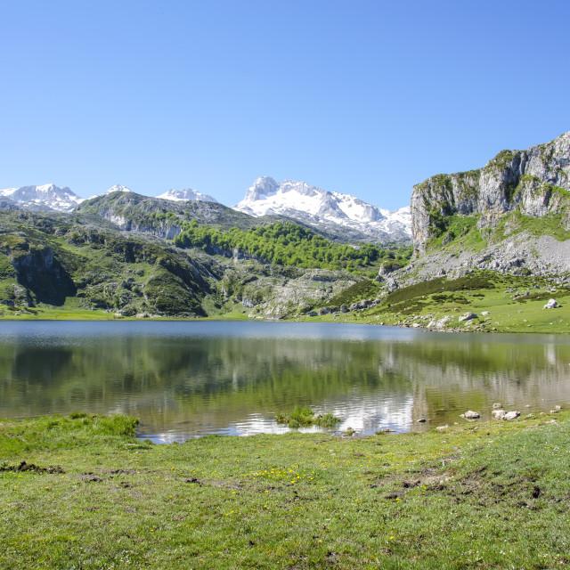 """""""Covadonga lake"""" stock image"""