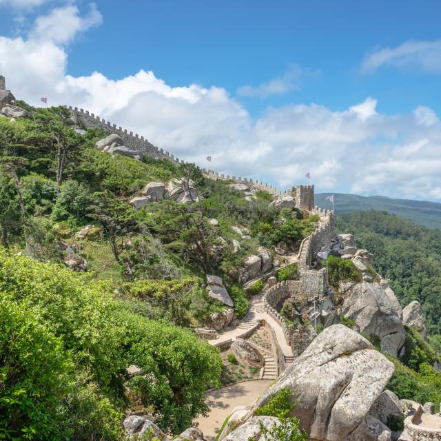"""Castelo dos Mouros - Sintra (Portugal)"" stock image"