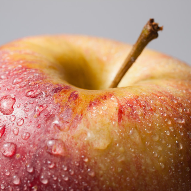 """Apple with drops"" stock image"