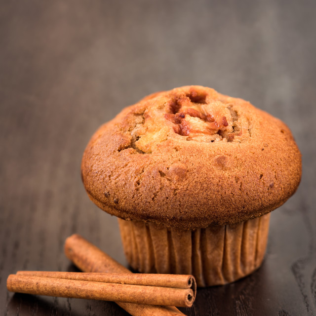 """""""Delicious apple and cinnamon muffins"""" stock image"""