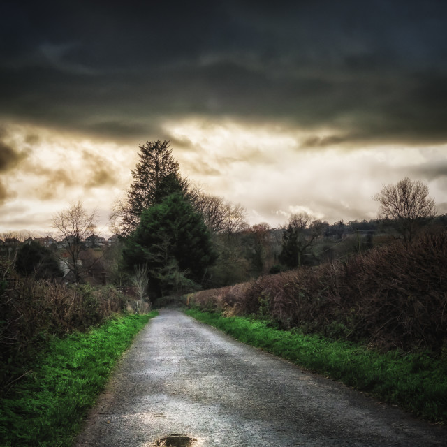 """Stormy Lane"" stock image"
