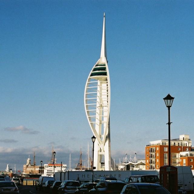 """The Spinnaker, Portsmouth"" stock image"