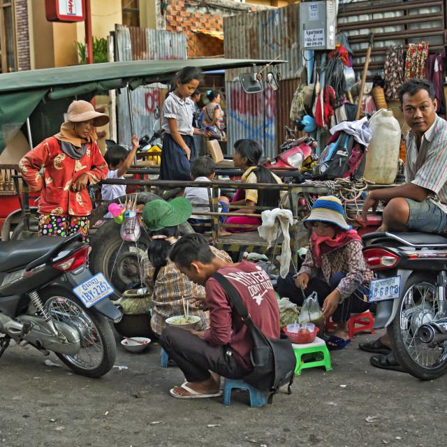 """PHNOM PENH STREET LIFE"" stock image"