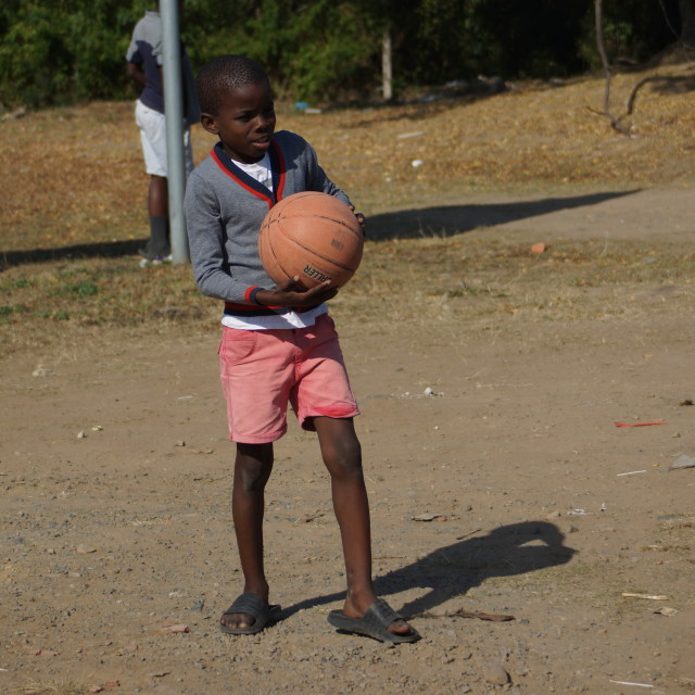 """Township basketball child"" stock image"