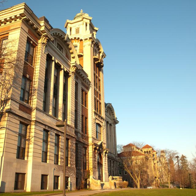 """""""Syracuse university campus"""" stock image"""