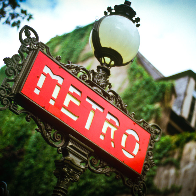 """Paris Metro"" stock image"