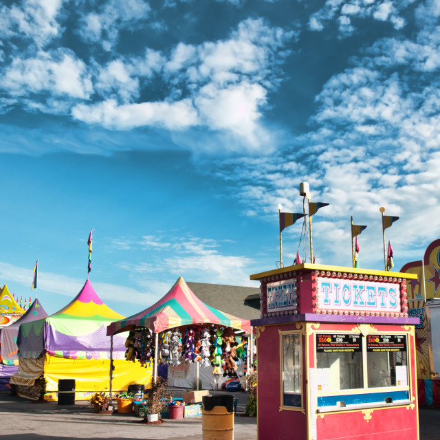 """""""fair midway"""" stock image"""