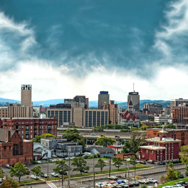 """Syracuse, New York panorama"" stock image"