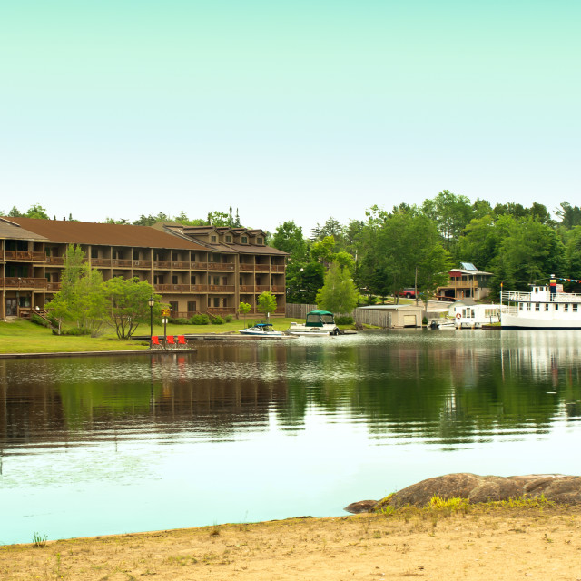 """Old Forge resort"" stock image"