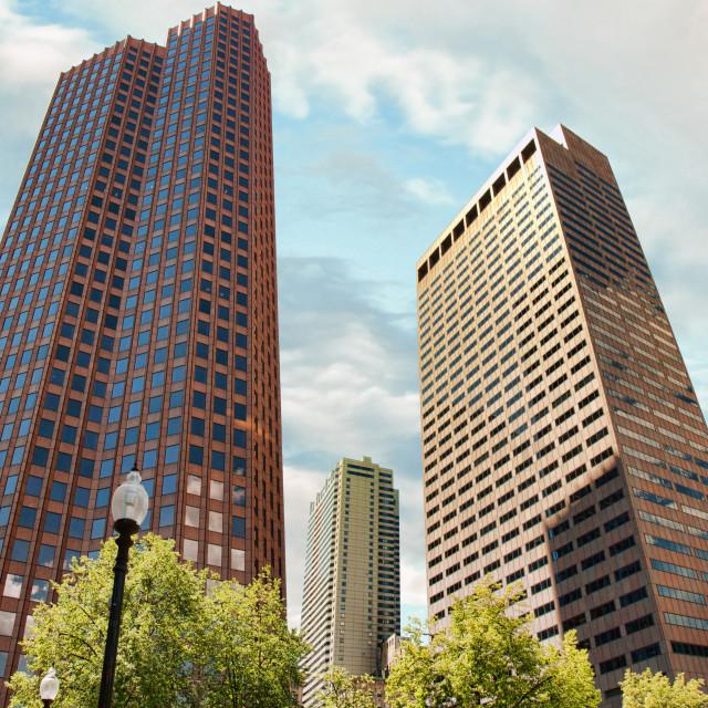 """Boston skyscrapers"" stock image"
