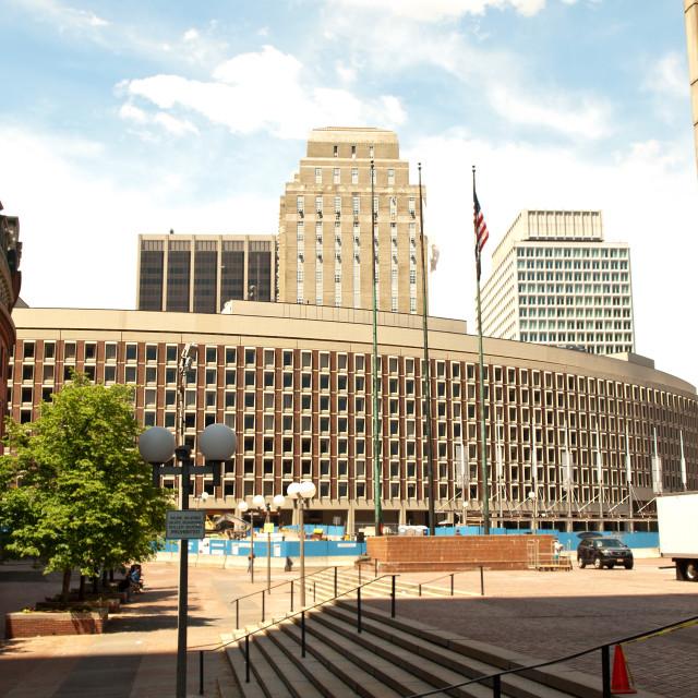 """Boston Financial District"" stock image"