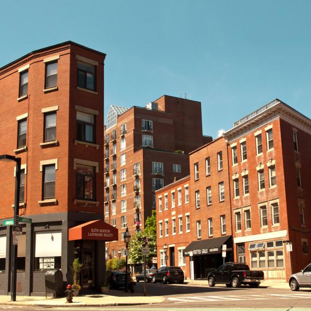 """""""Boston apartments"""" stock image"""