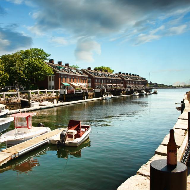 """""""Boston wharf"""" stock image"""