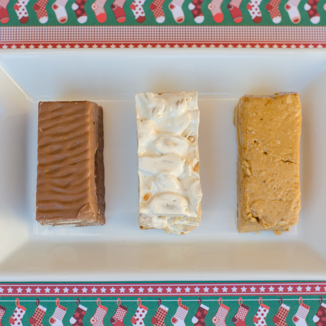 """nougat, a typical dessert of Christmas in Spain"" stock image"
