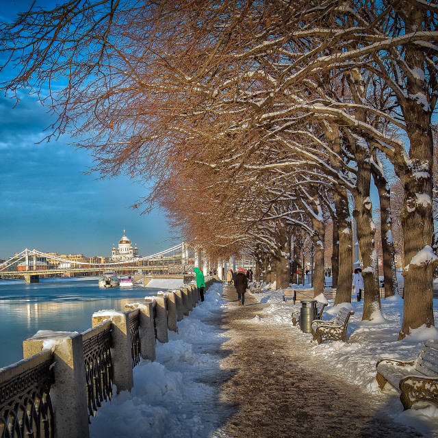 """Moscow winter"" stock image"