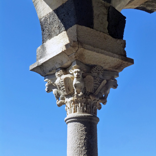 """""""Detail - Sardinian Church"""" stock image"""