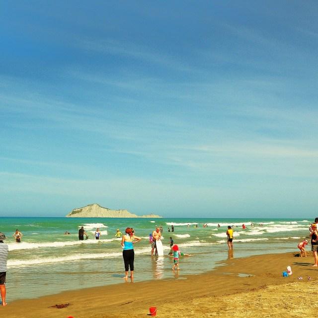 """""""Waimarama Beach"""" stock image"""