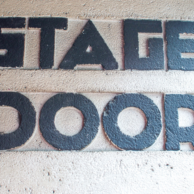 """Stage Door Sign Apollo Theatre London"" stock image"