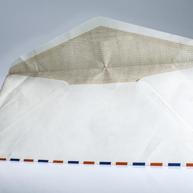 """Vintage envelope on white background."" stock image"