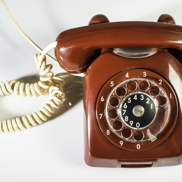"""Vintage red phone"" stock image"
