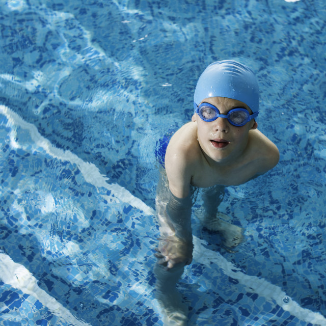 """""""Child in swimming pool"""" stock image"""