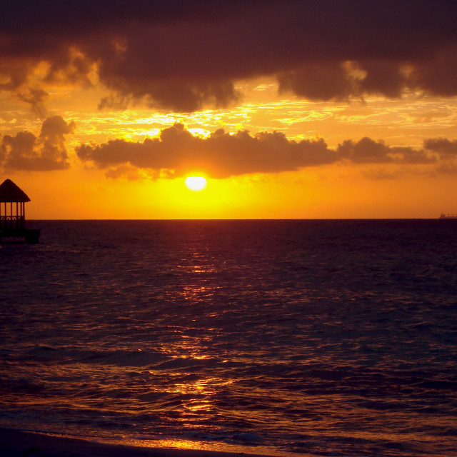 """Sunset in Jamaica"" stock image"