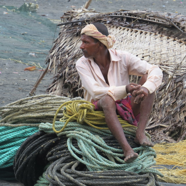 """Keralan Fisherman"" stock image"