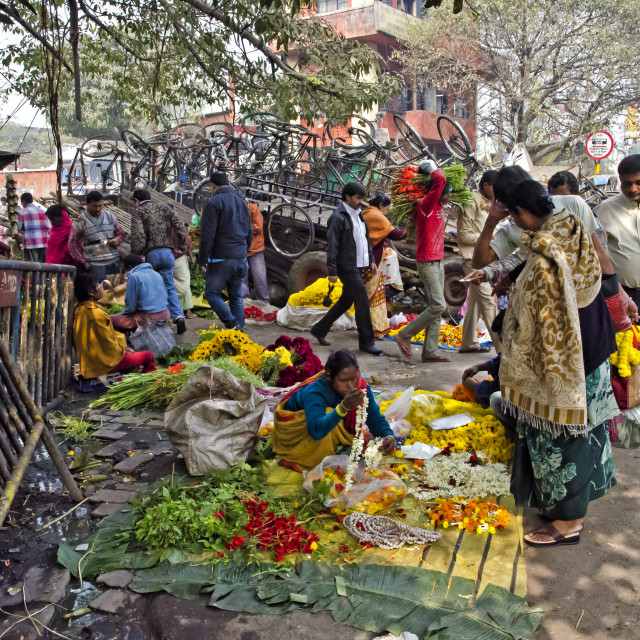 """FLOWER MARKET"" stock image"