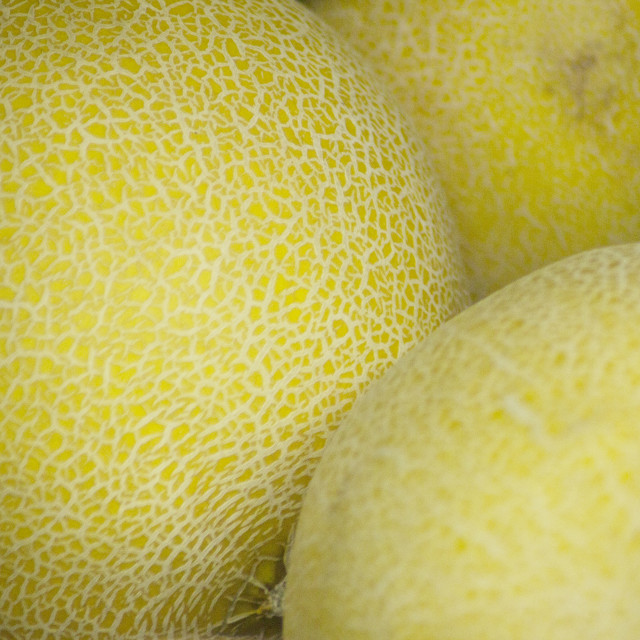 """Melons fruit in supermarket grocers"" stock image"