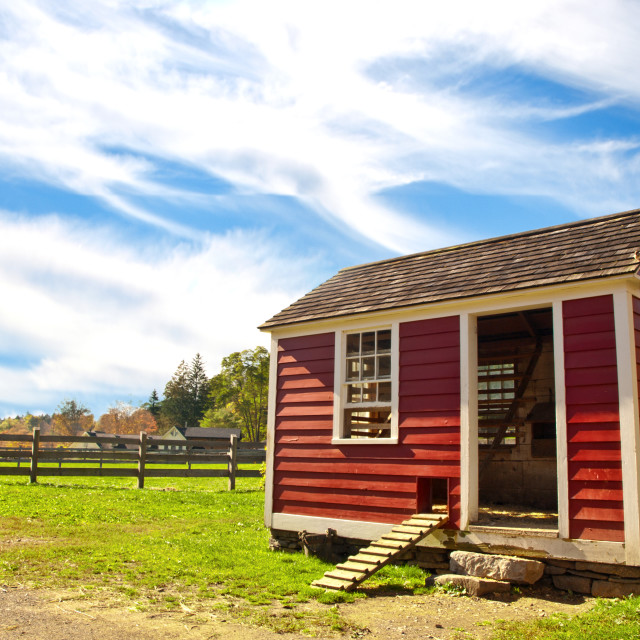 """red hen house"" stock image"