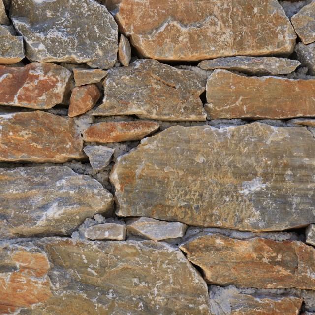 """Wall smooth stone block."" stock image"