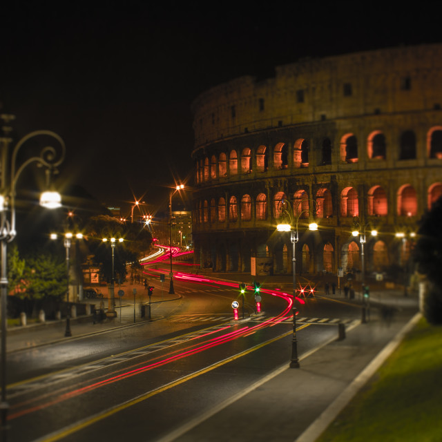 """""""Colosseum by night"""" stock image"""