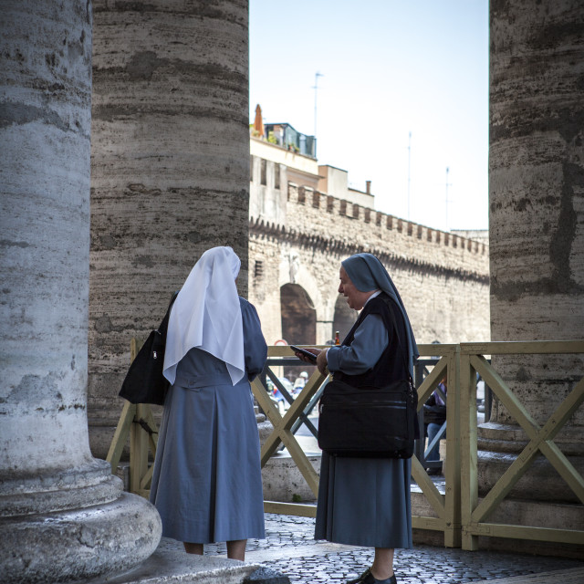 """Nuns"" stock image"