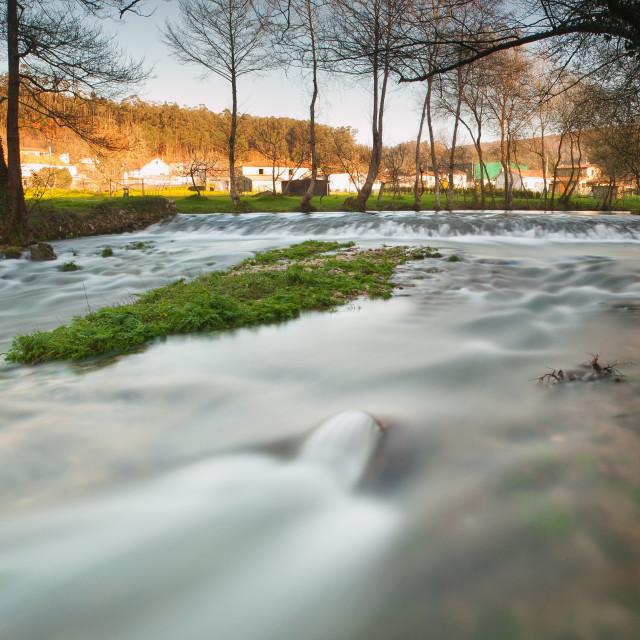 """Beautiful river in Galicia, Spain"" stock image"