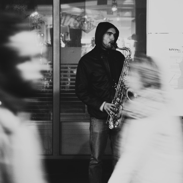 """Sax player"" stock image"