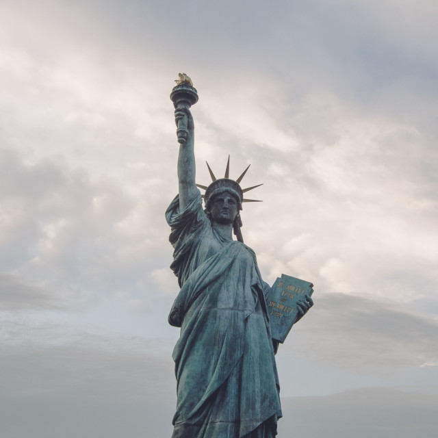 """Statue of Liberty on the island of Odaiba in Tokyo"" stock image"