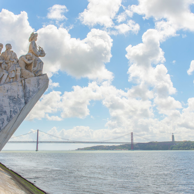 """""""Monument to the Discoveries in Lisbon"""" stock image"""