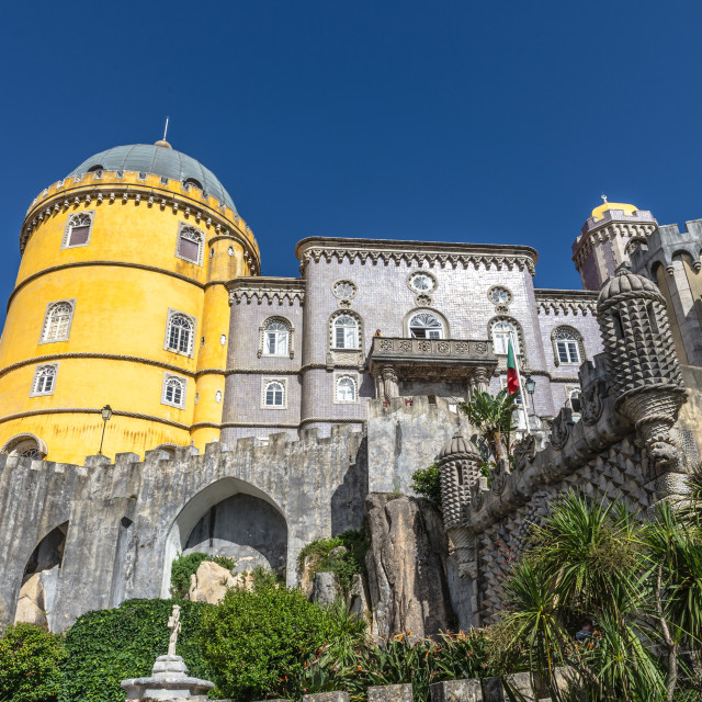 """Pena National Palace in Sintra, Portugal."" stock image"