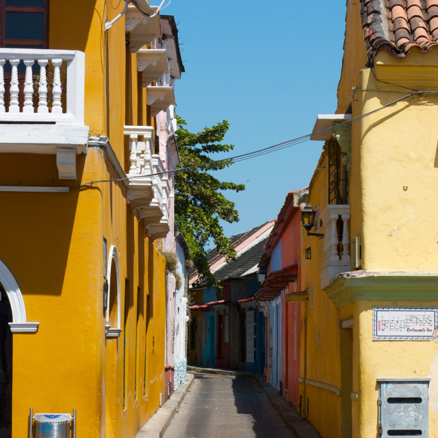 """cartagena alley"" stock image"