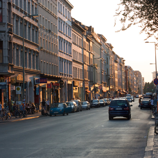 """streets of berlin"" stock image"