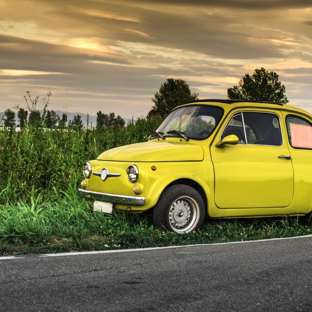 """Small vintage italian car Fiat Abarth"" stock image"