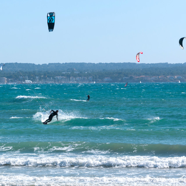 """Kite surfers"" stock image"