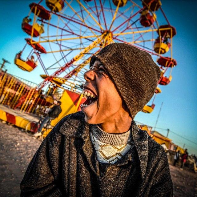 """Fun Fair Smile"" stock image"