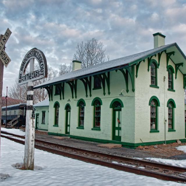 """old railway depot"" stock image"