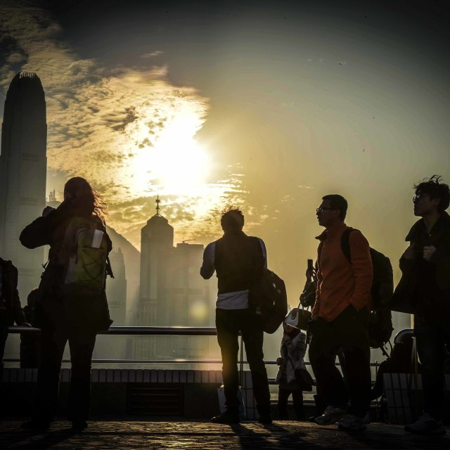 """Hong Kong Shadows"" stock image"