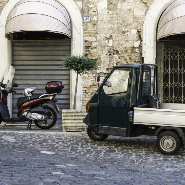 """Italian tricycle"" stock image"
