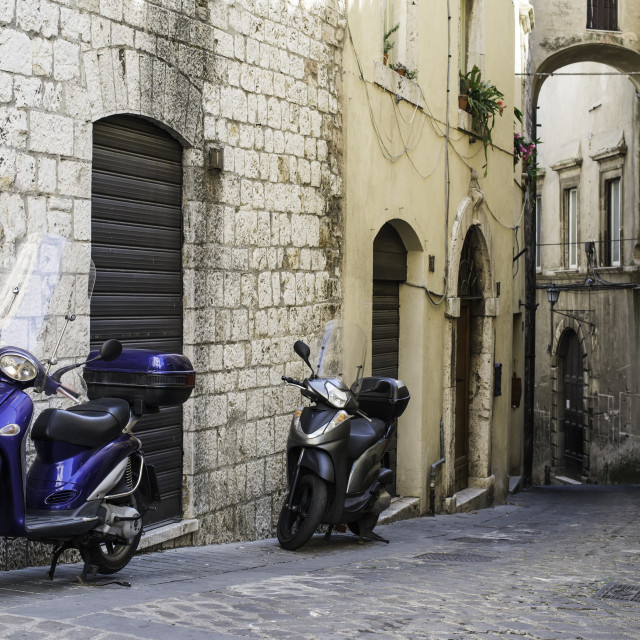 """Italian motor scooter"" stock image"