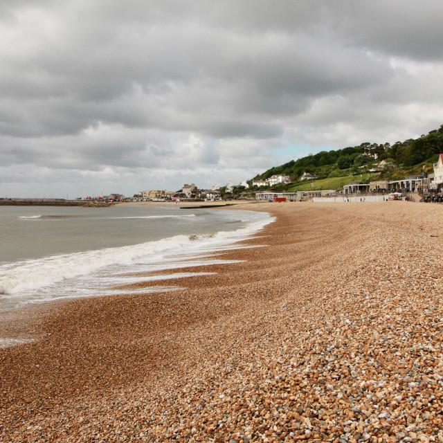 """Pebble beach English coast"" stock image"