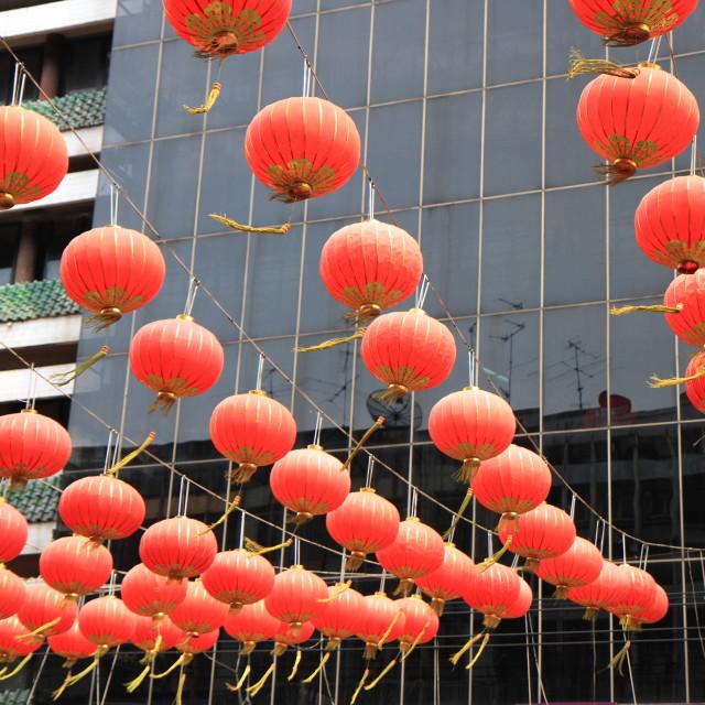 """Chineses red lanterns"" stock image"